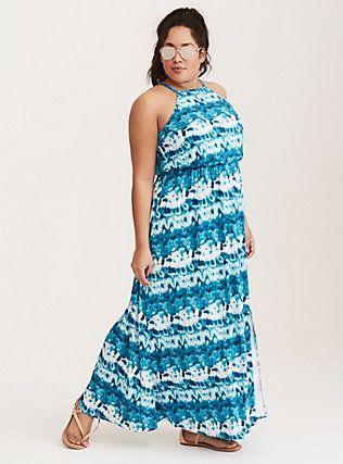 Tie Dye Jersey Maxi Dress, AFTERSHOCK TIE DYE