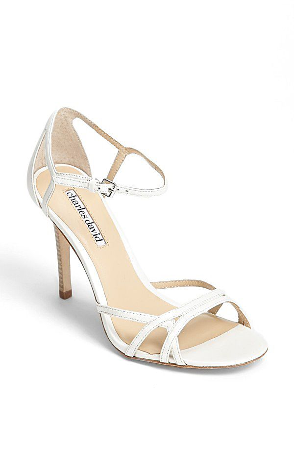 Charles By David Strappy White Shoes