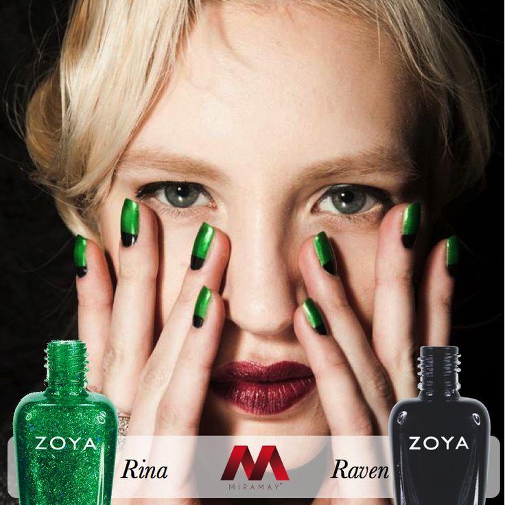 Zoya oje moda renkleri Rina ve Raven ile New York Moda Haftası'nda Zang Toi defilesine damgasını vurdu.