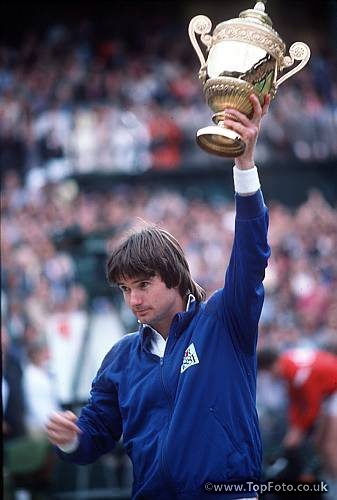 Jimmy Connors winning Wimbledon in 1982