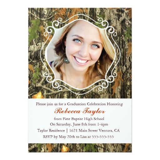 117 best camo graduation invitations images on Pinterest