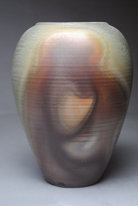 Vase Wood Fired Pottery T23 by JohnMcCoyPottery on Etsy, $110.00