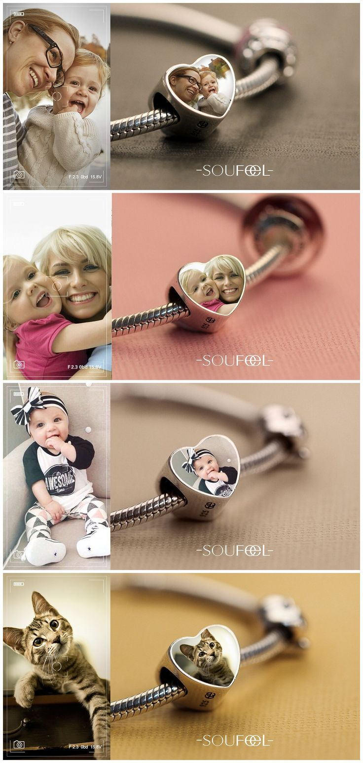 Just select a charm, upload a photo and make that photo a long-lasting piece of jewelry for dearest mom! Make everyday extra memorable with Soufeel.