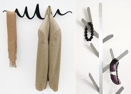 The stylish Scribble Coat Rack by Headsprung and Twig Hanger by HIVE are great modern products for tidying up those items that are often left lying around.