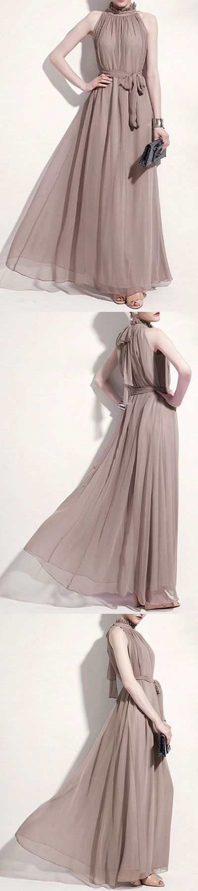 girlish maxi dress - chiffon dress for occasions, prom and birthday parties....best deal today -only $23.9