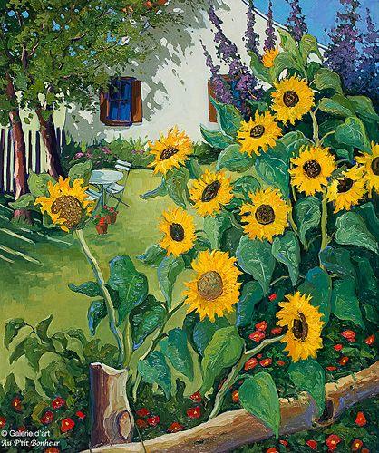 Robert Savignac, 'En plein soleil', 30'' x 36'' | Galerie d'art - Au P'tit Bonheur - Art Gallery