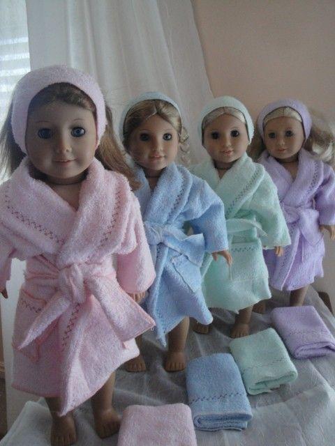 Bathrobe & Towel Set by LizzieAndGirls on Etsy, $19.00