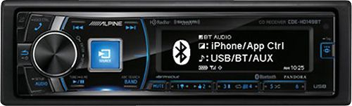Alpine - CD - Built-In Bluetooth - Built-In HD Radio - Apple® iPod®-Ready - In-Dash Receiver - Black