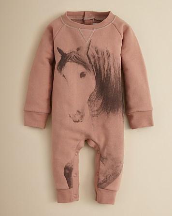 Stella McCartney Kids Infant Girls' Jimbo Horse Print Shortall - Sizes 3-9 Months | Bloomingdale's