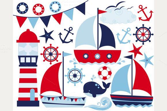 Sail Away / Sailing (Boy) by MyClipArtStore on Creative Market