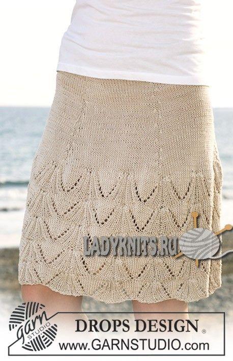вязаная спицами юбка
