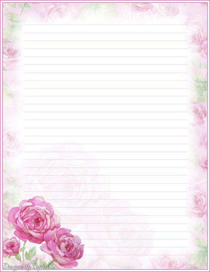 My printable stationary Creations 3 - Sophia Designs PenPal Stationery