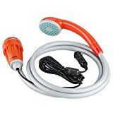 Suaoki Portable Outdoor Camping Shower with 12V Electrical Pump, Cigarette Plug, 3M Power Cord, Water Filtration System, 1.8m Hose, for Travel Pet Cleaning Car Washing