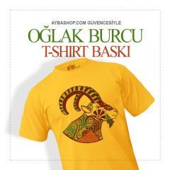 Oğlak Burcu Tasarımlı T Shirt Baskı