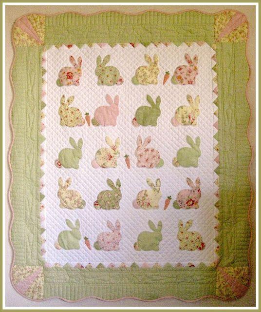 T. in the Burg: Bunny Quilt for a future grandchild