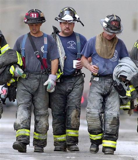 10 years later...this is so sad: Male firefighters who were exposed to toxic dust and smoke from the 9/11 attacks on New York's World Trade Center have a 19 percent higher risk of getting cancer of all kinds than colleagues who were not exposed, U.S. researchers said Thursday.