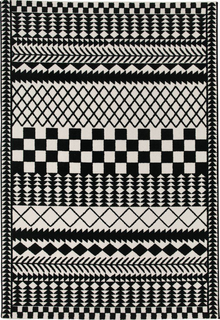 Pattern Black And White Rug