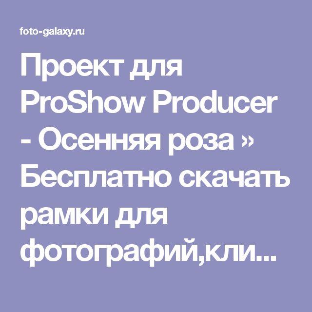 Проект для ProShow Producer - Осенняя роза » Бесплатно скачать рамки для фотографий,клипарт,шрифты,шаблоны для Photoshop,костюмы,рамки для фотошопа,обои,фоторамки,DVD обложки,футажи,свадебные футажи,детские футажи,школьные футажи,видеоредакторы,видеоуроки,скрап-наборы
