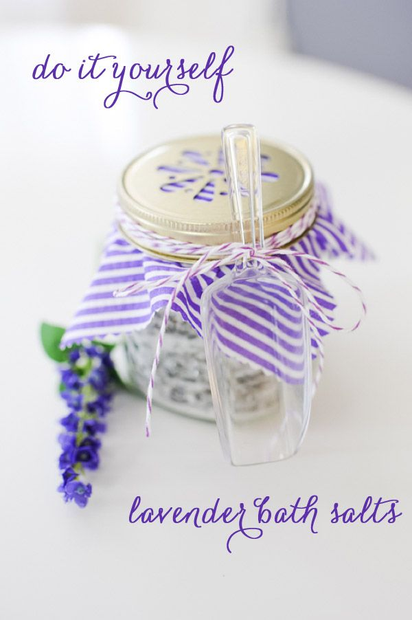 DIY: lavender bath salts