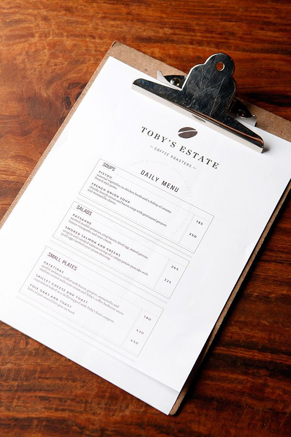 Toby's Estate Cafe (VCO) by Inksurge, via Behance