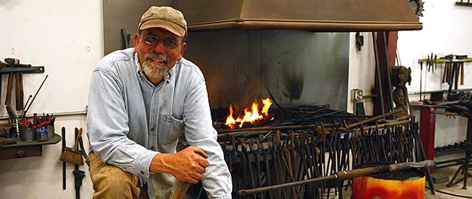 Artist-blacksmith Jeff Fetty has been forging for over 30 years, coaxing hard, cold iron into delicately wrought objectsSpencer WV in Spencer, WV  Connect with Jeff at www.chestnutridgeartistcolony.org.