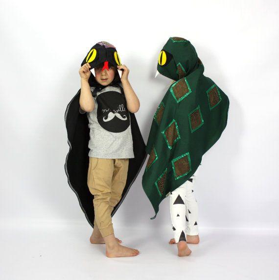 Snake Costume Cape Childrens fancy dress by sparrowandbcostumery