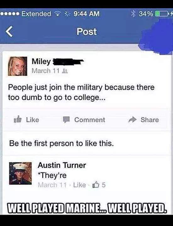 Dumb People On Facebook Meme