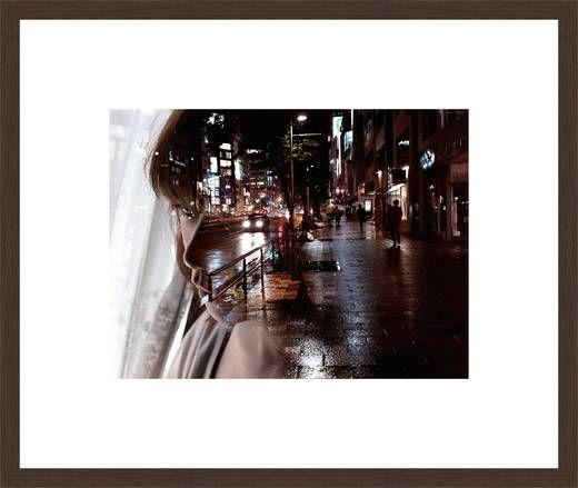 Miki Takahashi, Warm Rain, 2012 / 2013 © www.lumas.com/ #LumasAsia,  Asian,  Asians,  Cities,  City,  Curtain,  Curtains,  Double exposure,  dreamy,  Exhibited works,  Japan,  Japanese,  Japanese women,  Lights,  Melancholia,  melancholic,  Night,  Passers,  Portrait,  Rain,  Road,  Sidewalk,  Window
