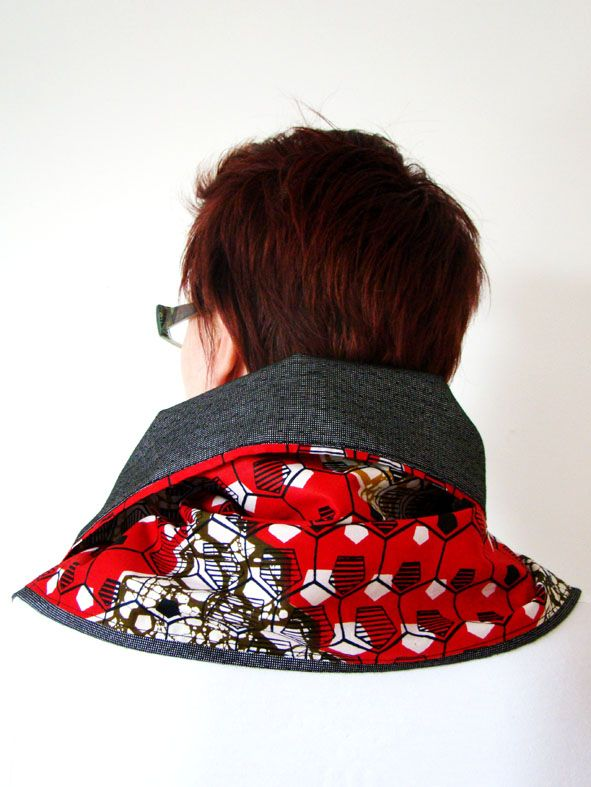 Red Geometric with Grey Reverse