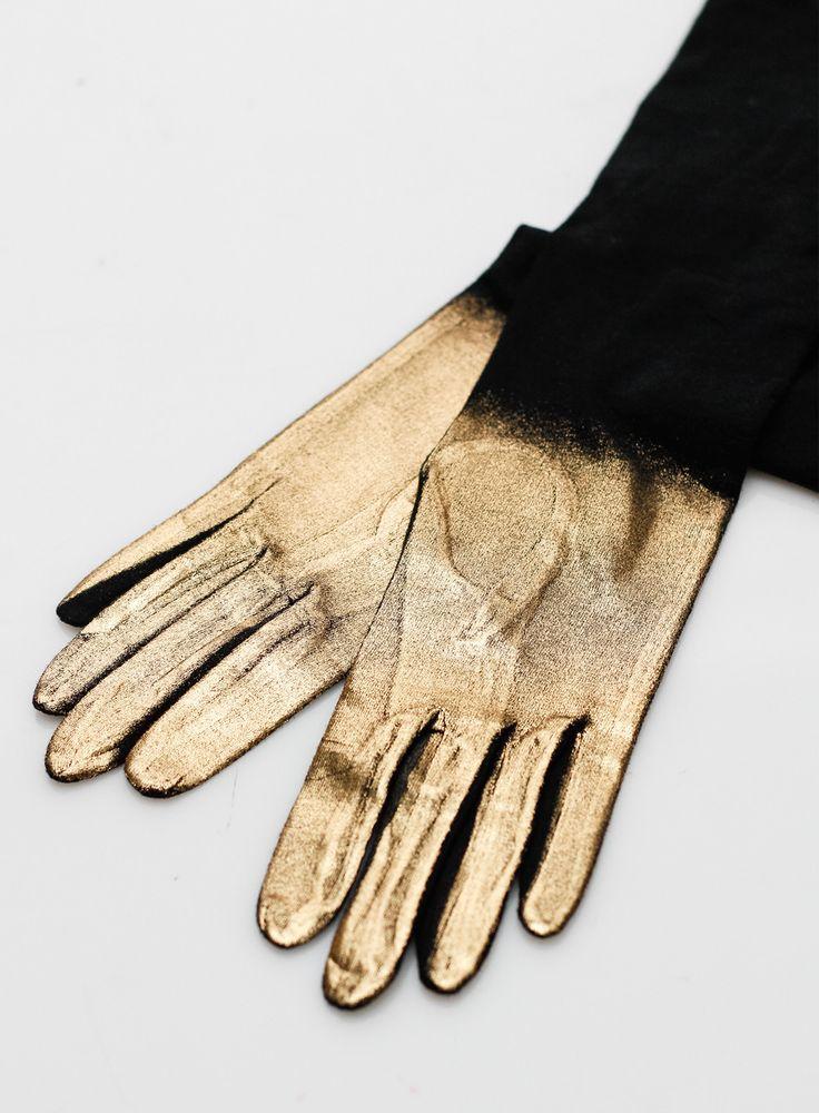 Yohji Yamamoto   Gold Hand Gloves