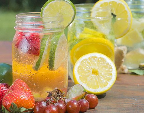 Refresh, rehydrate and relax with a variety of Infused Water recipes from Chef Gwen!