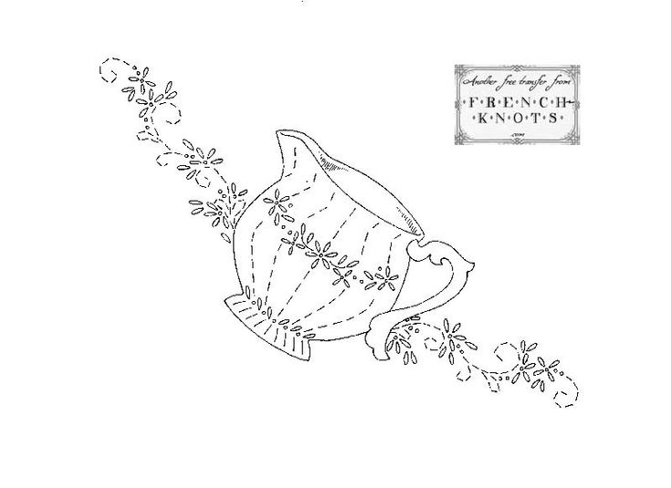 Embroidery Patterns   DISH TOWEL EMBROIDERY PATTERNS   Free Patterns