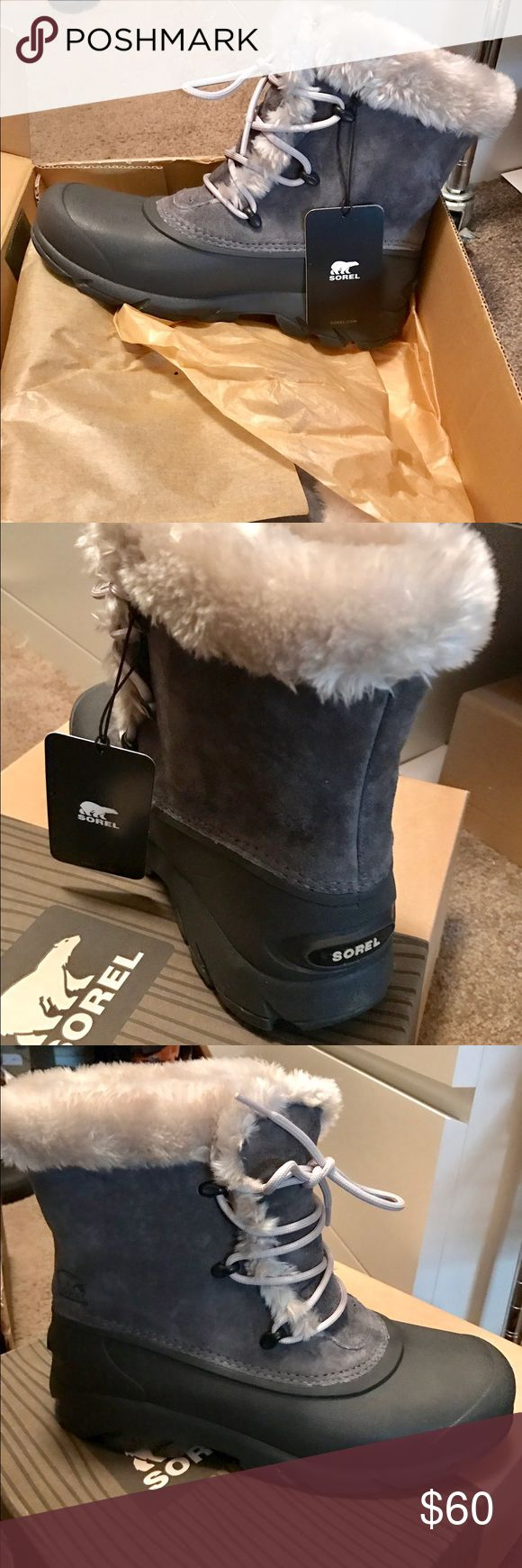 Sorel snow boots.. never been worn! New Sorel snow boots. Charcoal grey, very comfortable. Too big for me. Sorel Shoes Winter & Rain Boots