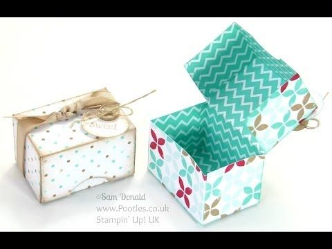 Adorable Mini Box Tutorial using Stampin' Up DSP Stack