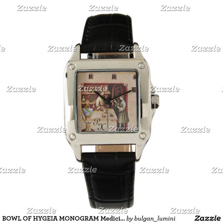 BOWL OF HYGEIA MONOGRAM Medicine, Pharmacy Wristwatch #medical  #pharmacist #pharmacology #watches