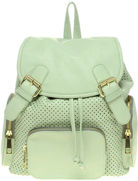 Asos Collection Asos Punchout Backpack in Green (mint) - Lyst