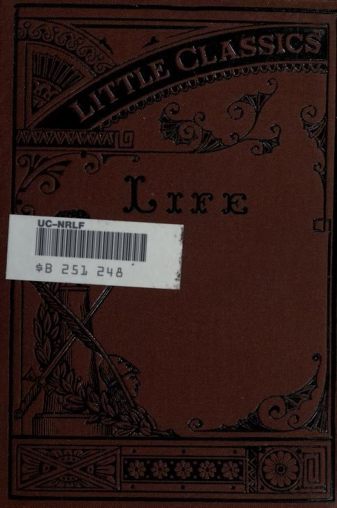 Little Classics Life .. by Johnson, Rossiter, 1840-1931 Published [c1874] Brown, John, Rab and his friends.--Howells, W.D. A romance of real life.--Harte, Bret. The luck of Roaring camp.--Barham, R.H. Jerry Jarvis's wig.--Willis, N.P. Beauty and the beast.--Hawthorne, N. David Swan.--Smith, Alexander. Dreamthorp.--Mitchell, D.G. A bachelor's revery.--Taylor, B.F. The grammar of life.--Curtis, G.W. My chateaux.--Lamb, Charles. Dream-children.--Hoffman, Charles F. The man in the reservoir.--Ad