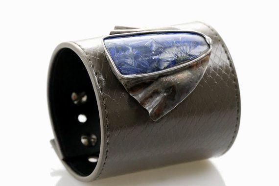 Ice crystals  ceramic bracelet by SztukKilka on Etsy