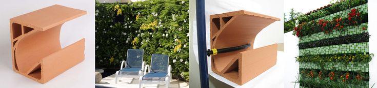 A Green Wall Ceramic usa blocos cerâmicos que podem ser fixados em paredes e em muros utilizando argamassa. Deve-se descascar a pintura da parede p/que o bloco seja fixado + facilmente. Após a instalação deve-se impermeabilizar o painel c/produtos atóxicos, como os utilizados em reservatórios de água, p/ não prejudicar as plantas. As jardineiras podem ser pintadas ou receberem outro tipo de acabamento. P/ painéis grandes, deve-se instalar um sistema profissional de irrigação por gotejamento.
