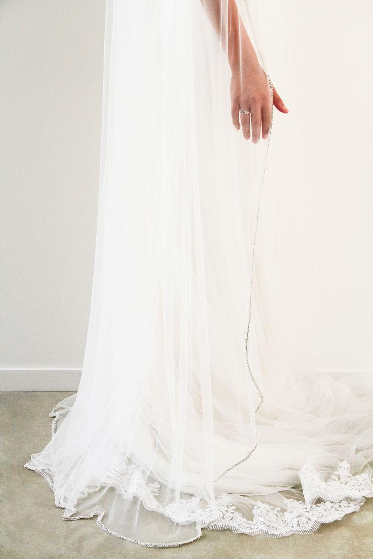 Crystal Embellished veil www.whenfreddiemetlilly.com.au