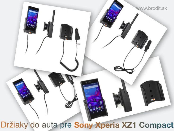 Nové držiaky do auta pre Sony Xperia XZ1 Compact. Pasívny držiak Brodit pre pevnú montáž v aute, aktívny s CL nabíjačkou, s USB alebo s Molex konektorom.