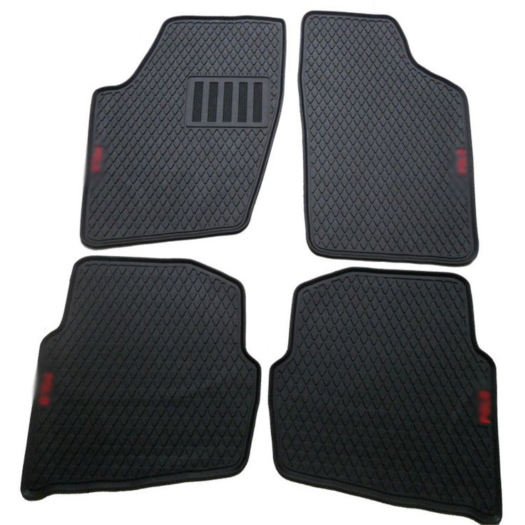 New Genuine Dedicated Front&Rear Floor Slip-resistant Rubber Mats For VW Polo 2004-2010 #Affiliate