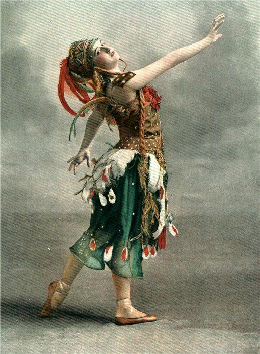 Tamara Karsavina in L'Oiseau de feu, 1910