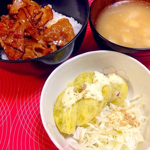 豚丼はまあまあ。さつまいもは息子の離乳食用の残り分だす。わさびマヨはこちらを参考にしました。 簡単♪5分でできるサツマイモのサラダ by なつたくかあさん http://cookpad.com/recipe/430055 - 10件のもぐもぐ - 20140905 今日の夕ごはん パルシステム産直豚の豚丼用味付&キャベツさつまいもサラダ わさびマヨ付き by ponnao