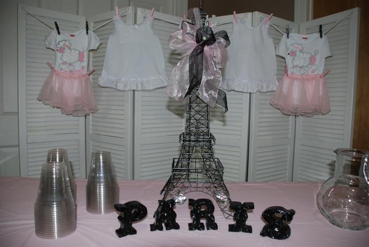 Baby Shower For Twin Girlsparis Theme  Shower Ideas -4798