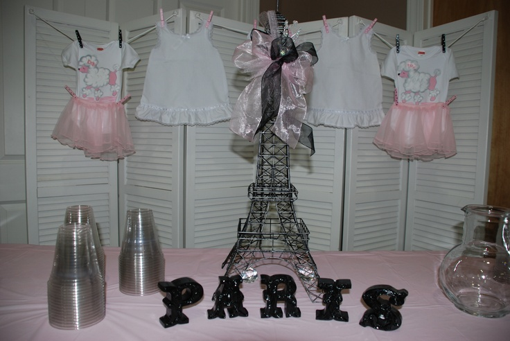 baby shower for twin girls paris theme shower ideas pinterest