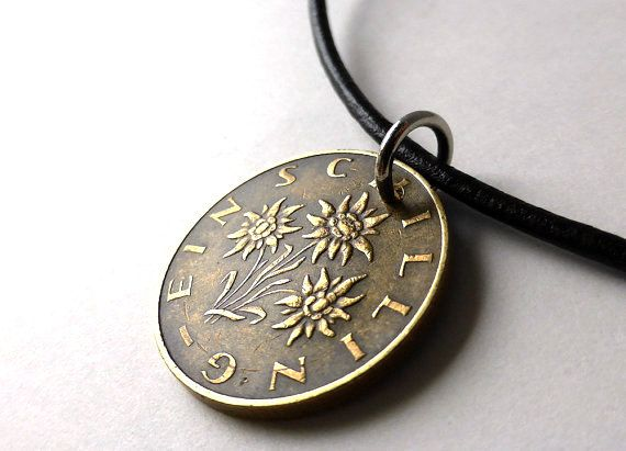 Hey, I found this really awesome Etsy listing at https://www.etsy.com/listing/213281782/austrian-coin-necklace-leather-necklace