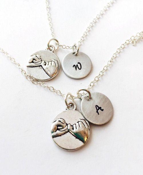 Best Friend Necklace Set Pinky Swear Necklace Promise Necklace...