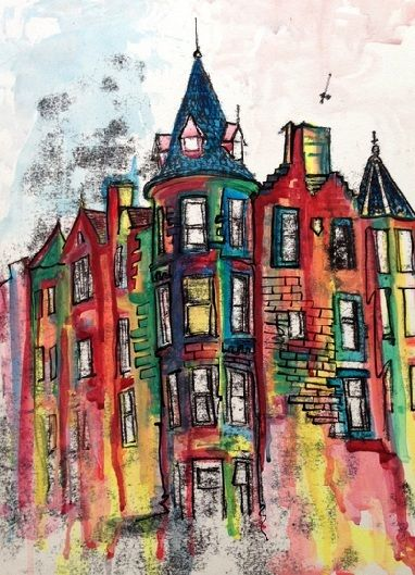 Rowan Leckie Building Art Architecture Art Painting