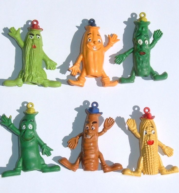 VINTAGE CUTIE VEGETABLE 70s PENCIL TOPPERS
